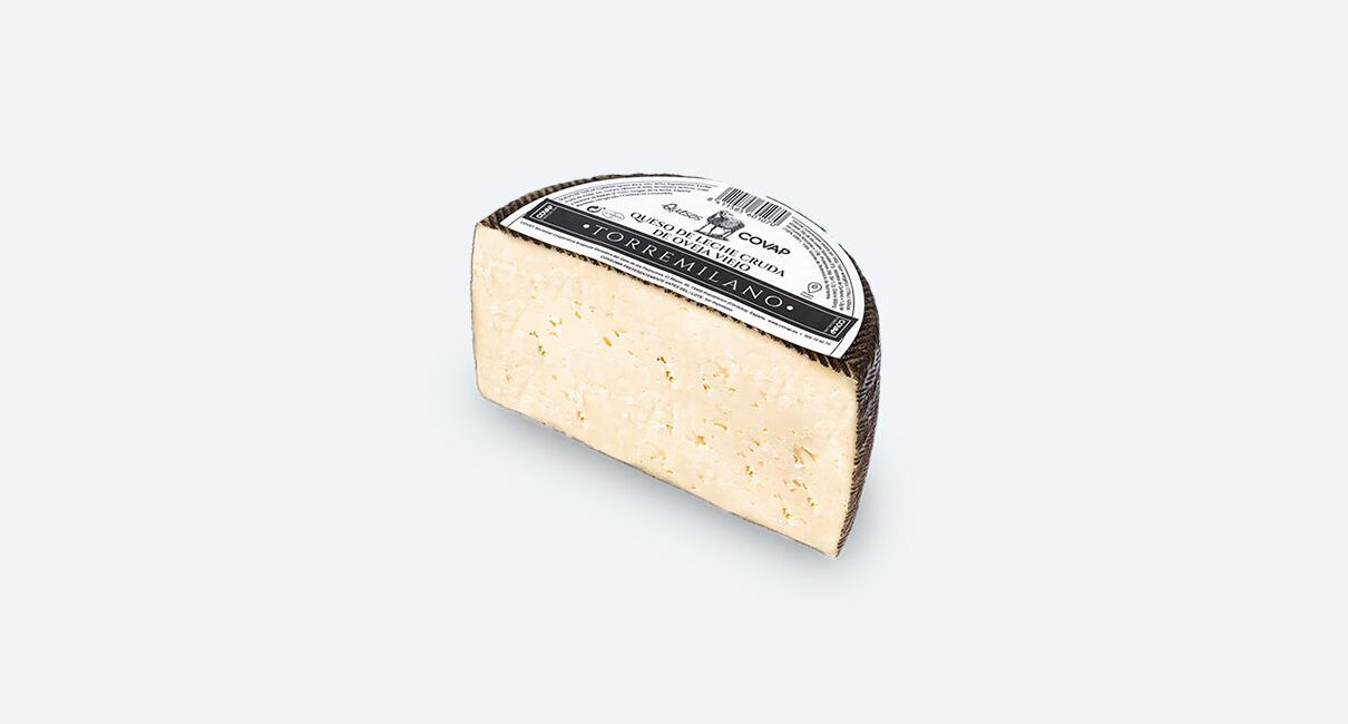 queso oveja leche cruda torremilano mitad
