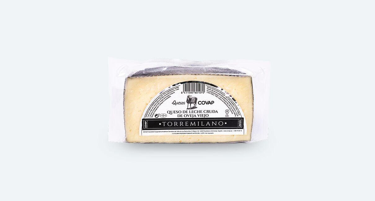 queso oveja leche cruda torremilano mitad frontal