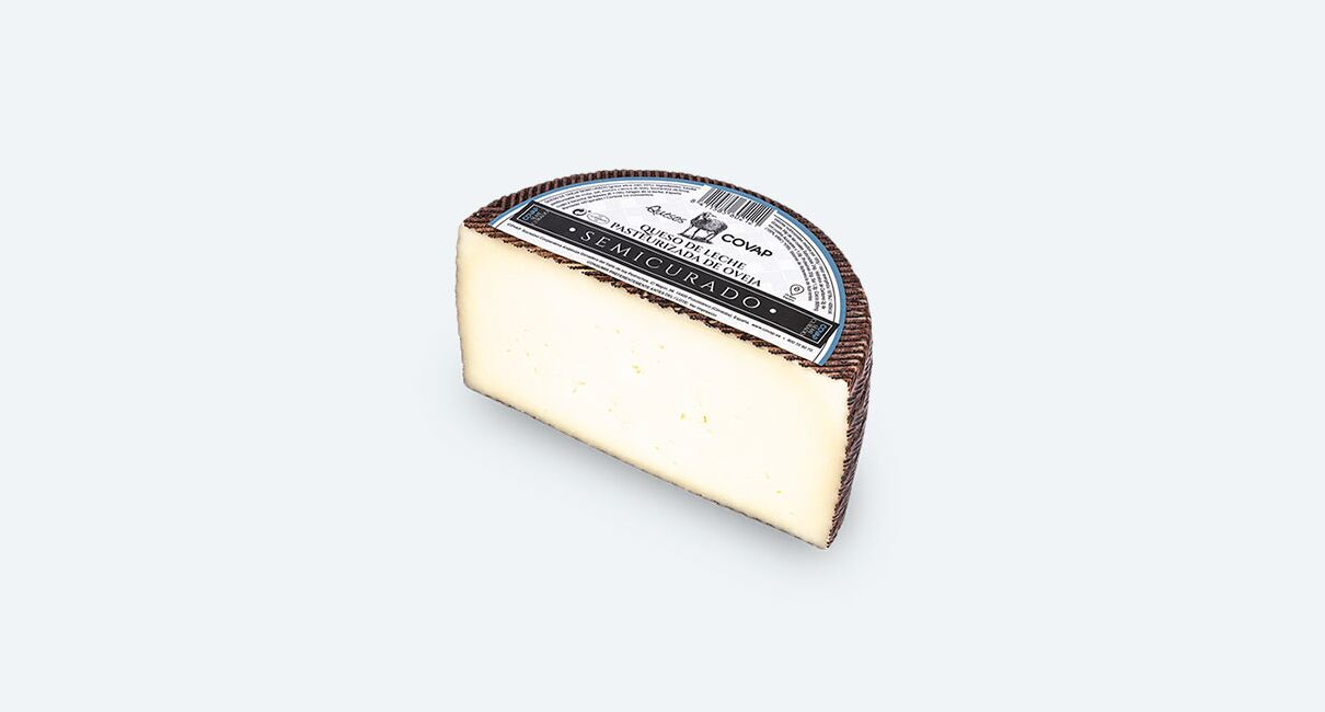 queso oveja leche pasteurizada semicurado mitad